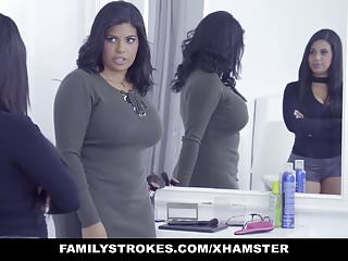 Hot twin sex Familystrokes - hot latin twin sisters compete for cock