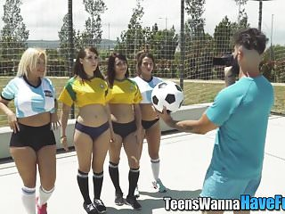 Soccer teen - Amateur soccer teen blows
