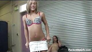 Kara Novack - Blonde Teen Smacks And Slaps A Cock