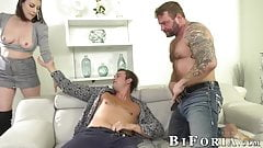 Sovereign Syre has fun with Colby Jansen and another bi stud