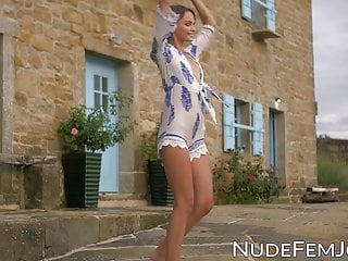 Nude photo packages for sale Stunning beauty enjoying a nude photo session outdoors