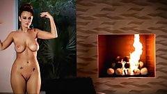 FIRE - busty redhead striptease dance