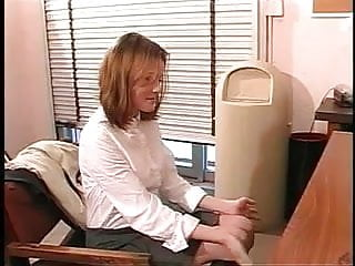 Office girls fucked on the desk - Perfect young shaved pussy brunette gets her asshole fucked on office desk