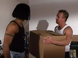 Asian packers and movers Cute asian schoolgirl doubled fucked by movers