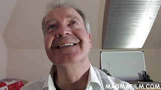 Hottie blonde Casey gets fucked by an old guy