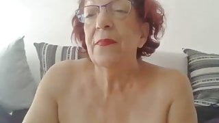 Hot French granny on cam