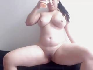 Sister showing her boobs on webcam - Gorgeous slut lactates and shows of her big boobs on webcam