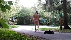completely naked on the streets