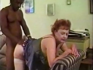 granny takes big black cock