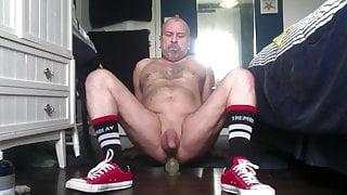 Gay with a dildo