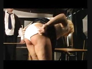 Vail ski bare bottom Bdsm caning - eight strokes over bare bottom