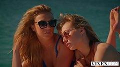 VIXEN Stunning blonde besties have steamy lesbian vacation