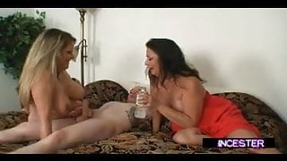 STEPSON BLACKMAILED TO FUCK STEPMOM AND AUNT JOINS