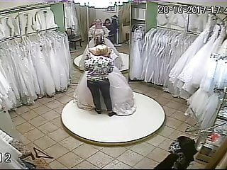 Vintage wedding dresses australia Spy camera in the salon of wedding dresses 9 sorry no sound