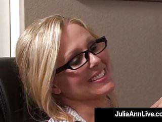 Award blow job Award winning milf julia ann gets cum in her eye on the job