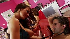 Hardcore orgy with horny babes fucking some lucky studs
