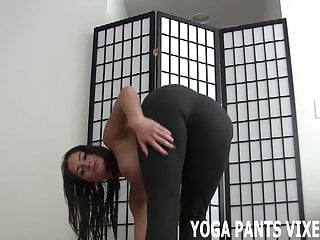 Rounded boobs photos women yoga - These yoga pants really hug my round ass tightly joi