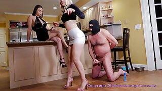 Bratt Princess US Make Loser in Chastity Belt