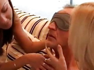 Older women fucking in public - Older guy fucks two beautiful women