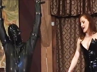 Sex slave used literorica Latex mistress using her slave