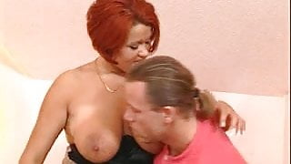 Tits on the redhead