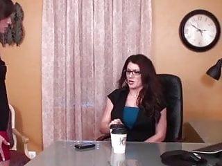 Lesbian boss secretary - Lesbian boss use a lesbian foot slave