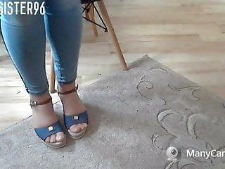 Sheer nylon bikinis Shoeplay sheer nylon feet