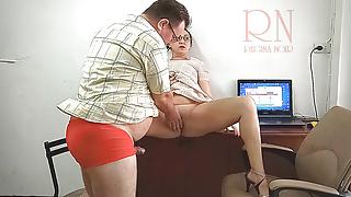 The boss is fucking the secretary Securitycam 3