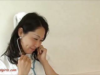 Cute asian nurse Asian nurse get anal dp from two cock and cum in mouth