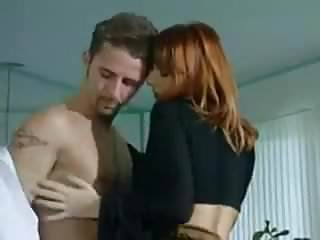 Shreder mens lingerie - Redhead wife with two men