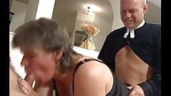 Swedish housewife pleases her men