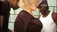 Blonde Mature in vintage IR Gangbang