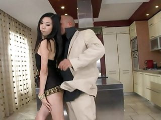 Chinese anal bigtubes Yiki footjob and anal