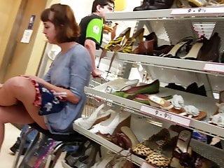 Shoe shopping erotic Beautiful teen upskirr shoe shopping