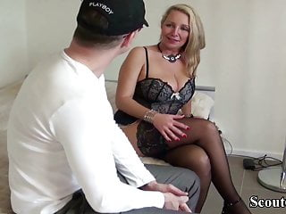 Teen boys first fuck - German milf hooker help young boy with first fuck