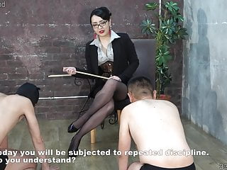 Training accademy sex slave mistress whip - Japanese dominatrix hitomi aoto trains two masochist men