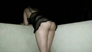 My Desi wife's outdoor doggy style