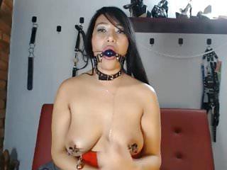 Self bondage and torture Self webcam torture 02