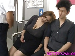 Gay japanese fucking - Big tits asian fucked on train