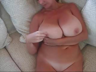 Beautiful mature women - Cum on 50 yr old big beautiful tits