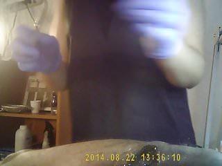 Waxing on vagina area Waxing on hidden cam part4