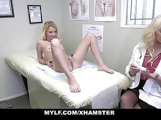 Comic strip about doctor Mylf - riley star learns about sex from her hot milf doctor