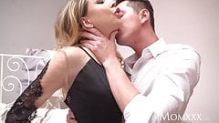 MOM Sexy Russian MILF in erotic black lingerie and high heel