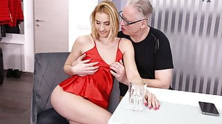 DADDY4K. Old man still able to fuck son's new hot GF
