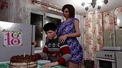 3dニューハーフコンピレーション-熟女ママがお尻で弱虫男をファック