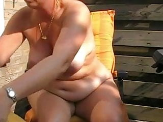 Chubby fat mature - Hot chubby mature with fat nipples fucks her holes