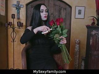 Family orgy vidos Adams family parody orgy