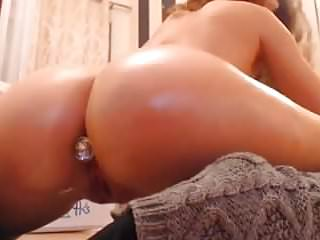 Firming up breast Big firm ass butt plug pussy fucked by big dildo