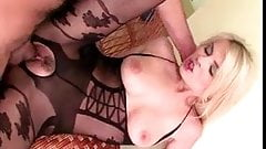 Fucking in crotchless lingerie