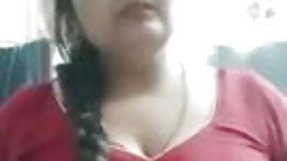 Indian Bhabhi Showing Big Boobs on Camera.